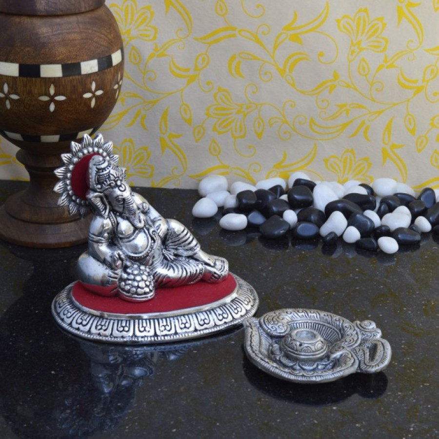 Buy Combo of Lord Ganesha Idol and Incense Stick Holder(Agarbatti Stand) Online