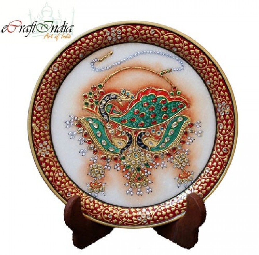 Buy Decorative Plate with Dancing Peocock Online