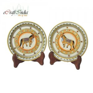 Buy Horse Etched Decorative Plates Online