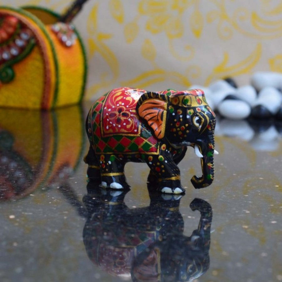 Buy Royal Red Painted Elephant Statue Online