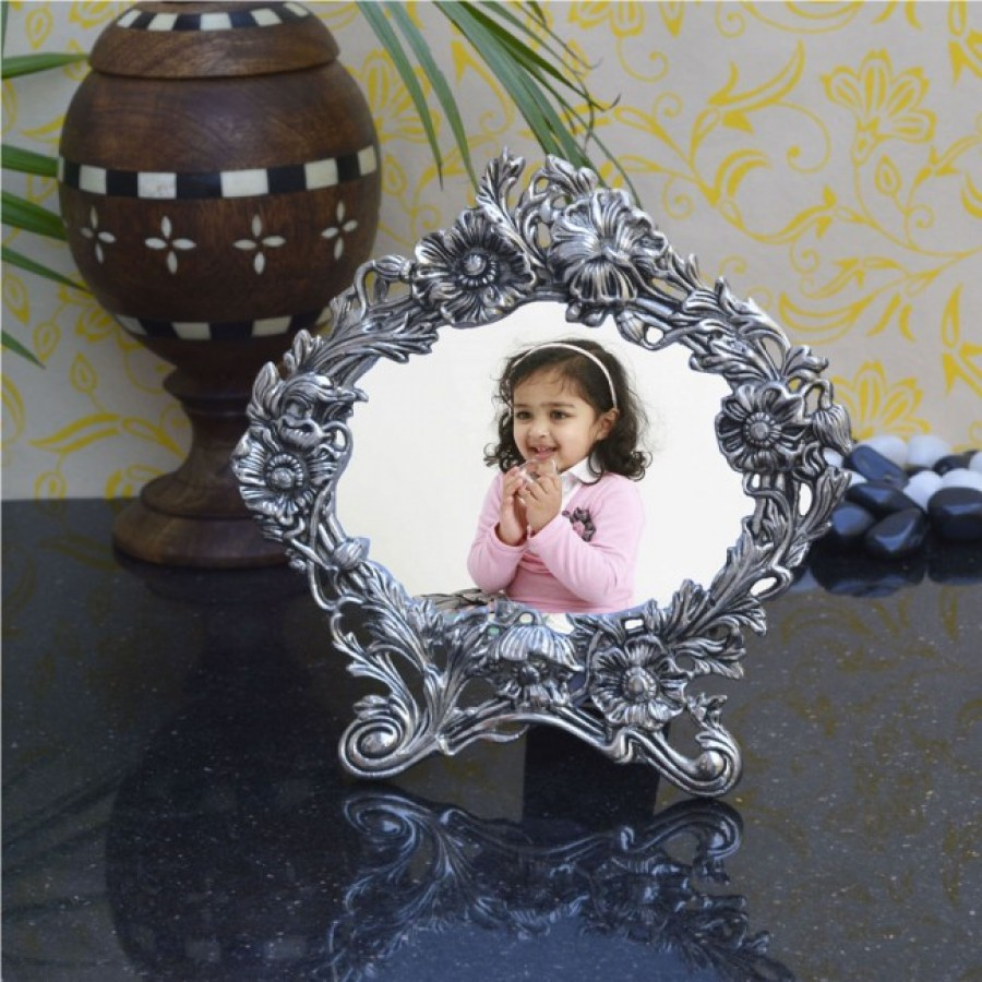 Buy Antique White Metal Photo frame Online