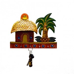 Buy eCraftIndia Cottage Key Holder Online