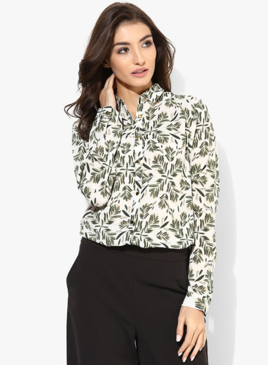 Buy Van HeusenWhite Printed Shirt Online