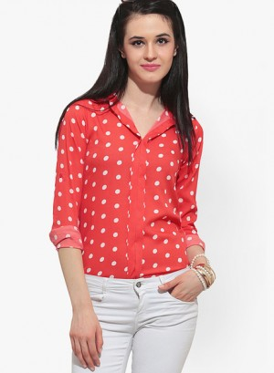 Buy FaballeyOrange Printed Shirt Online