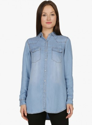 Buy MangosteenBlue Washed Shirt Online
