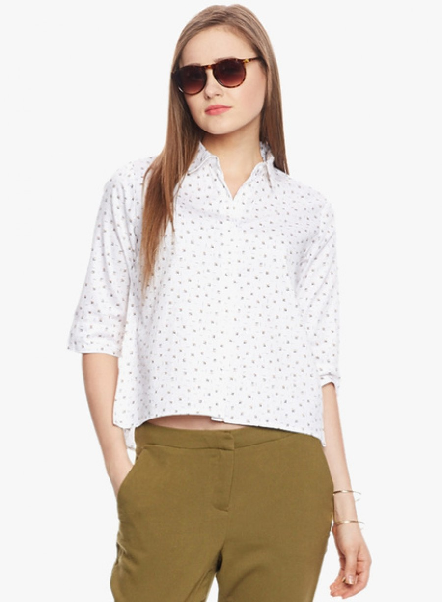 Buy American SwanWhite Printed Shirt Online