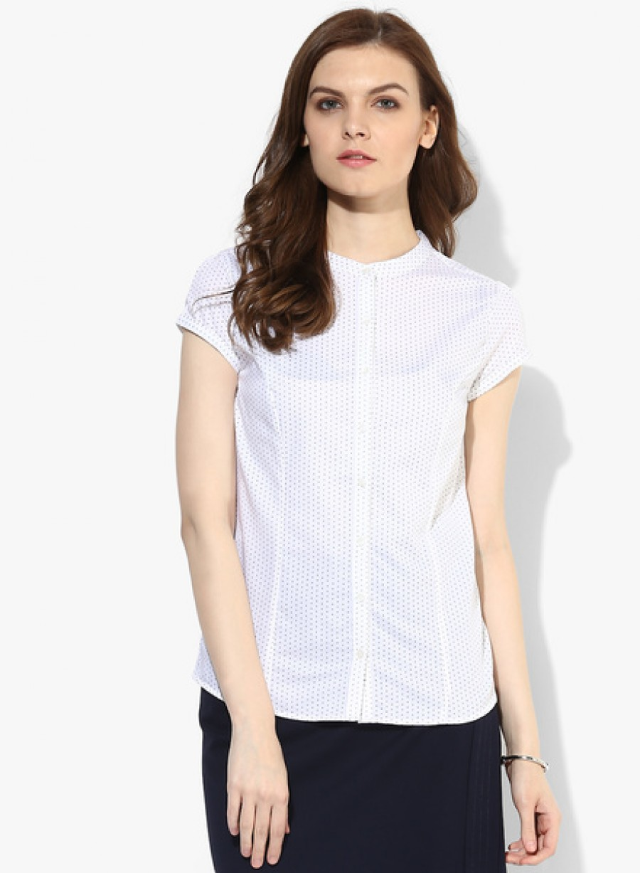 Buy Arrow WomanWhite Printed Shirt Online