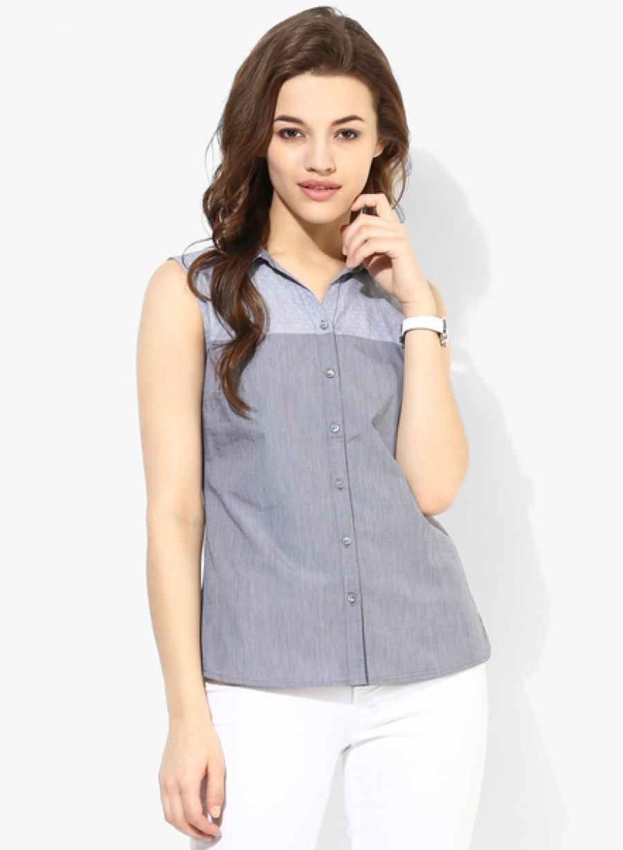 Buy Arrow WomanGrey Printed Shirt Online