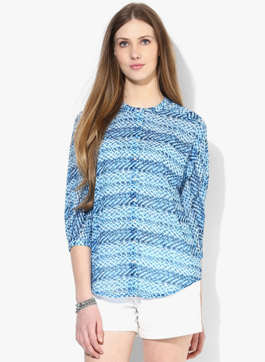 Buy Arrow WomanBlue Printed Shirt Online