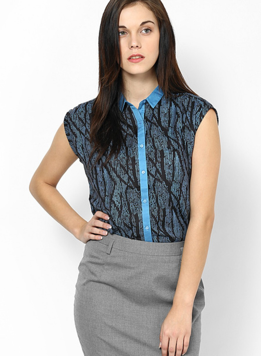 Buy Arrow WomanCobalt Sleeve Less Shirt Online