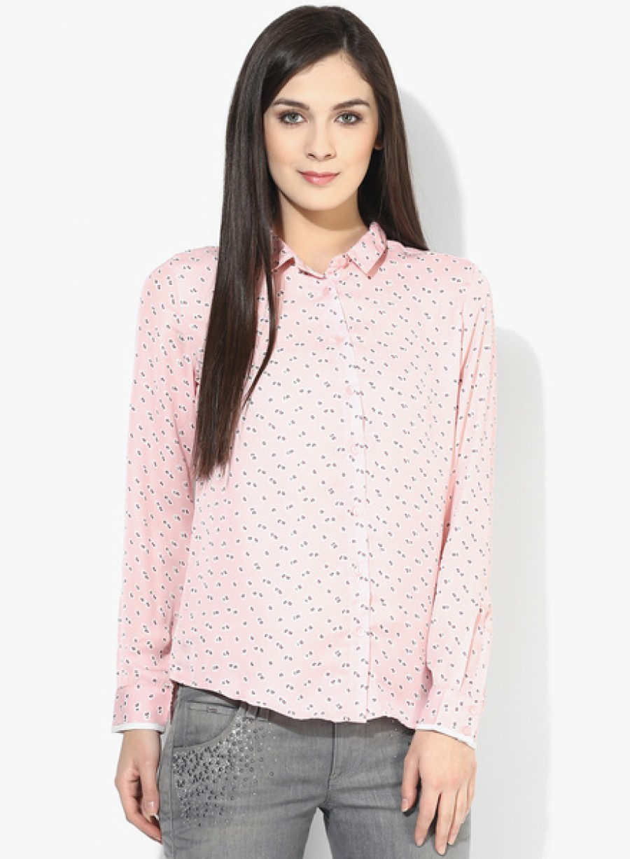 Buy Arrow WomanPink Printed Shirt Online