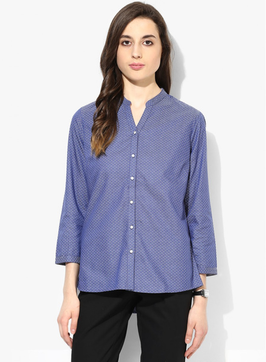 Buy Arrow WomanNavy Blue Printed Shirt Online
