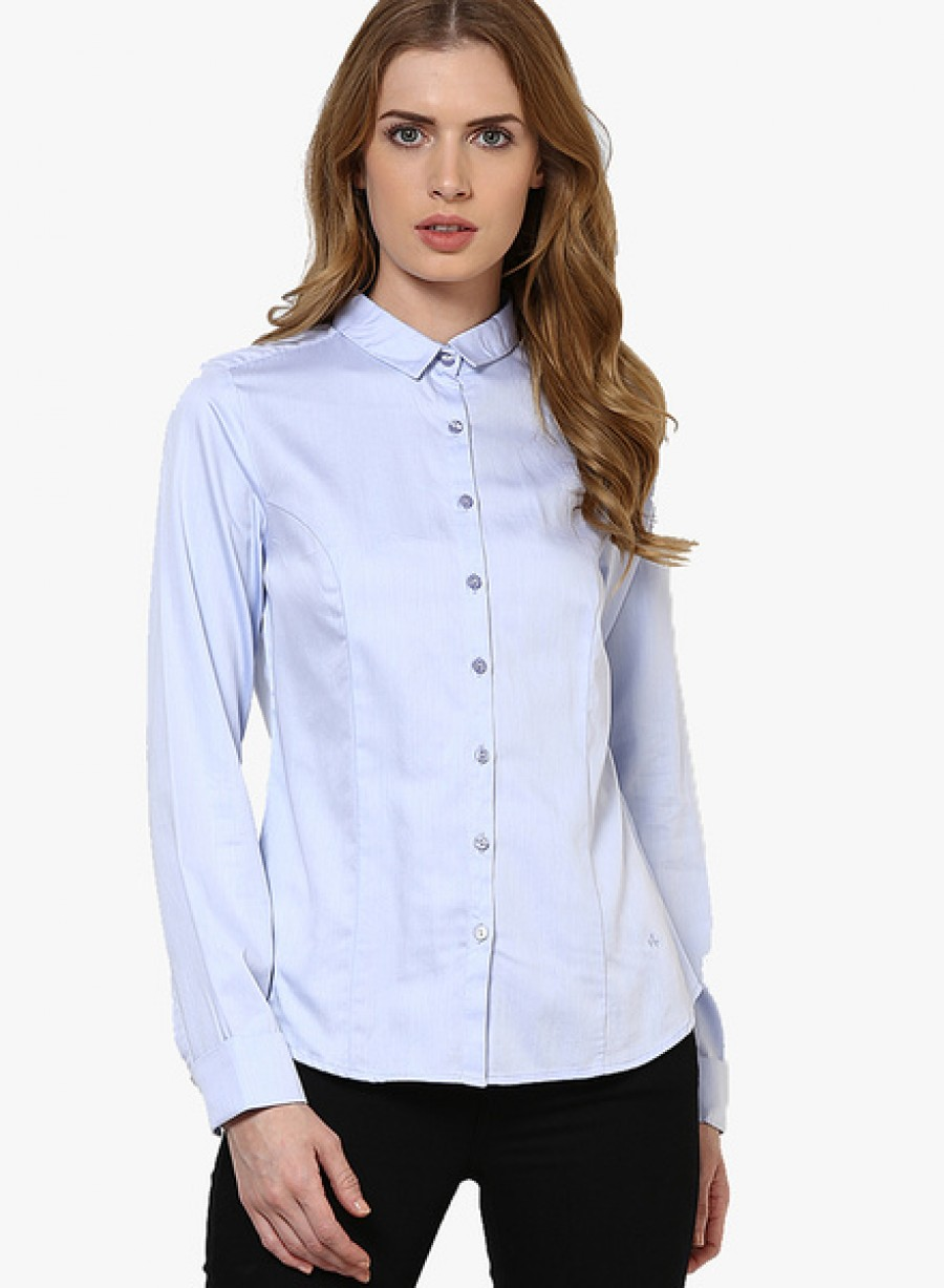 Buy Arrow WomanLight Blue Shirts Online