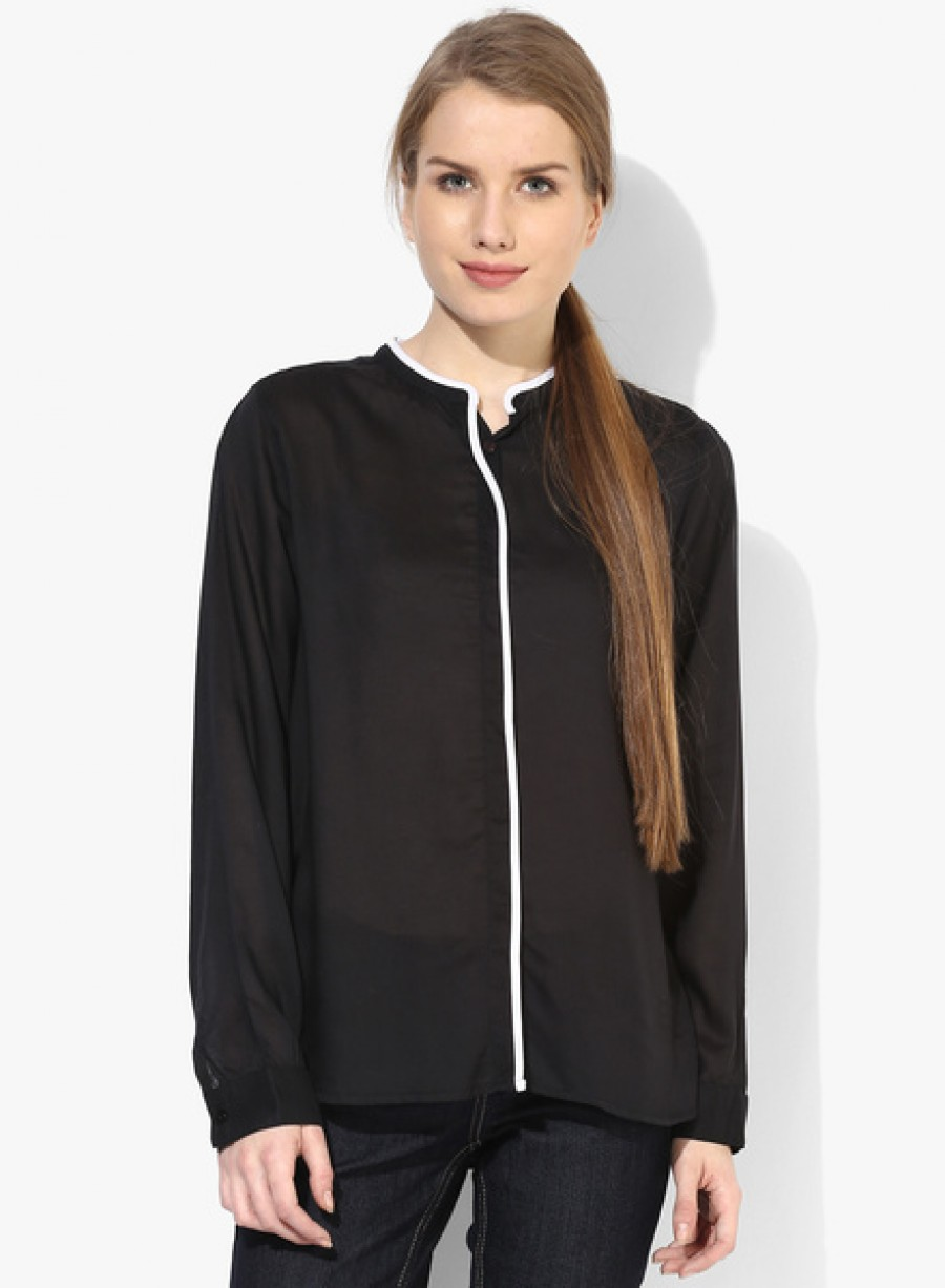 Buy Arrow WomanBlack Solid Shirt Online