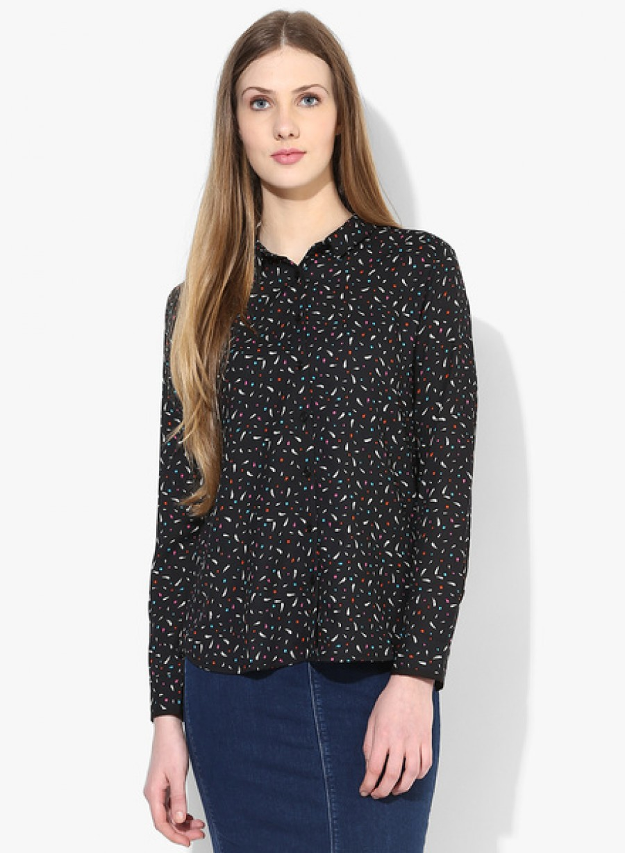 Buy Arrow WomanBlack Printed Shirt Online