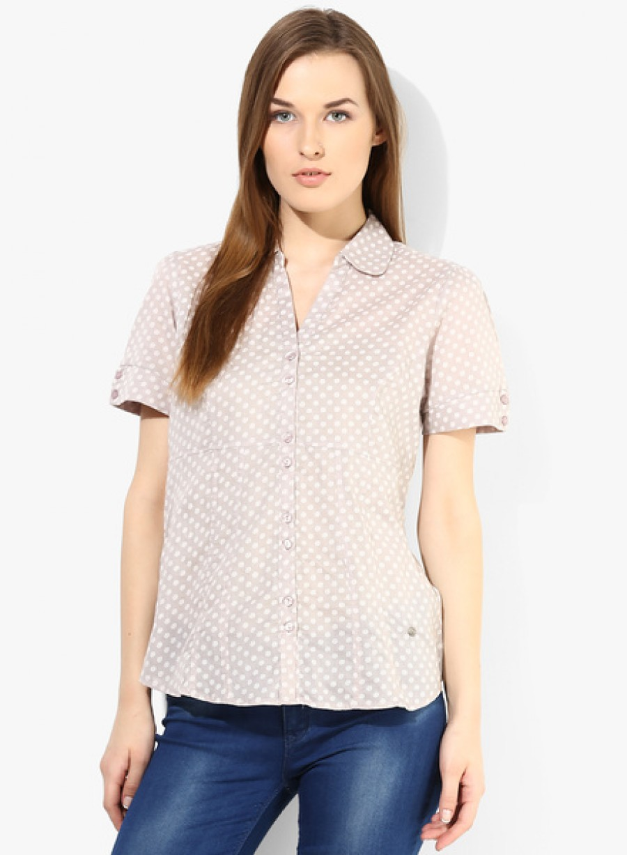 Buy Arrow WomanLight Grey Printed Shirt Online