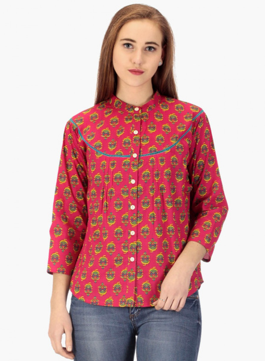 Buy PrayyanRed Printed Shirt Online