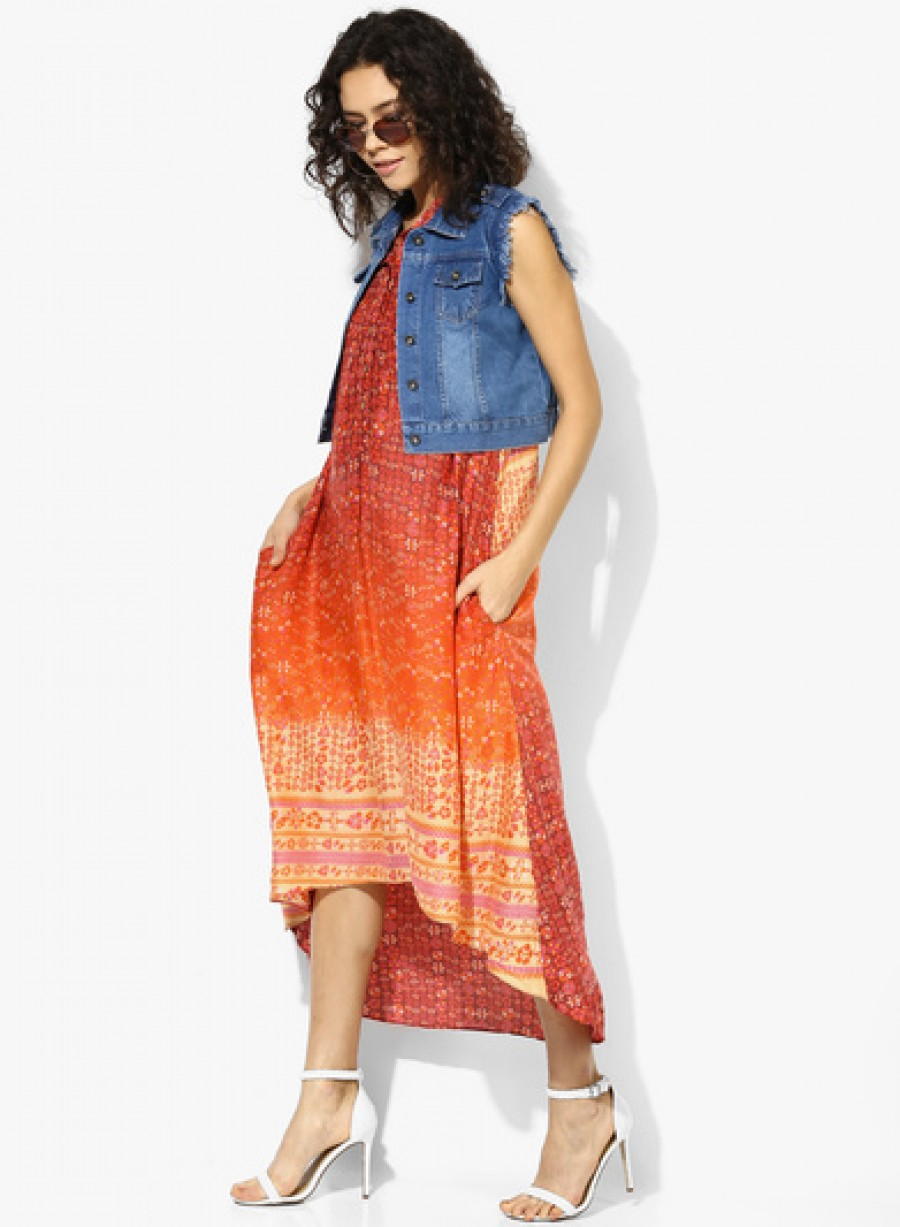 Buy Global Desi Multicoloured Printed Maxi Dress Online