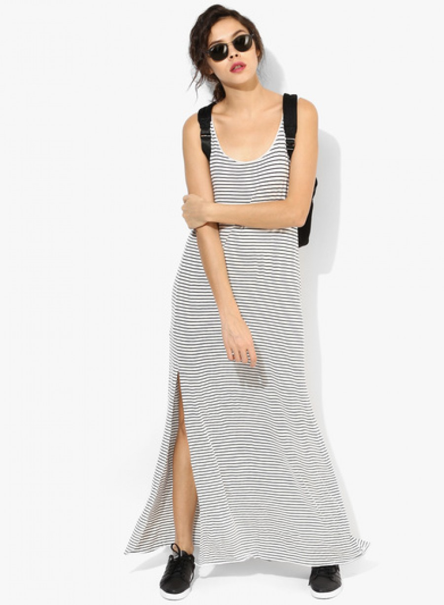 Buy Mango Flowy Striped Maxi Dress Online