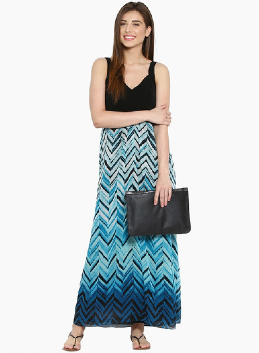 Buy Ladybug Black Coloured Printed Maxi Dress Online
