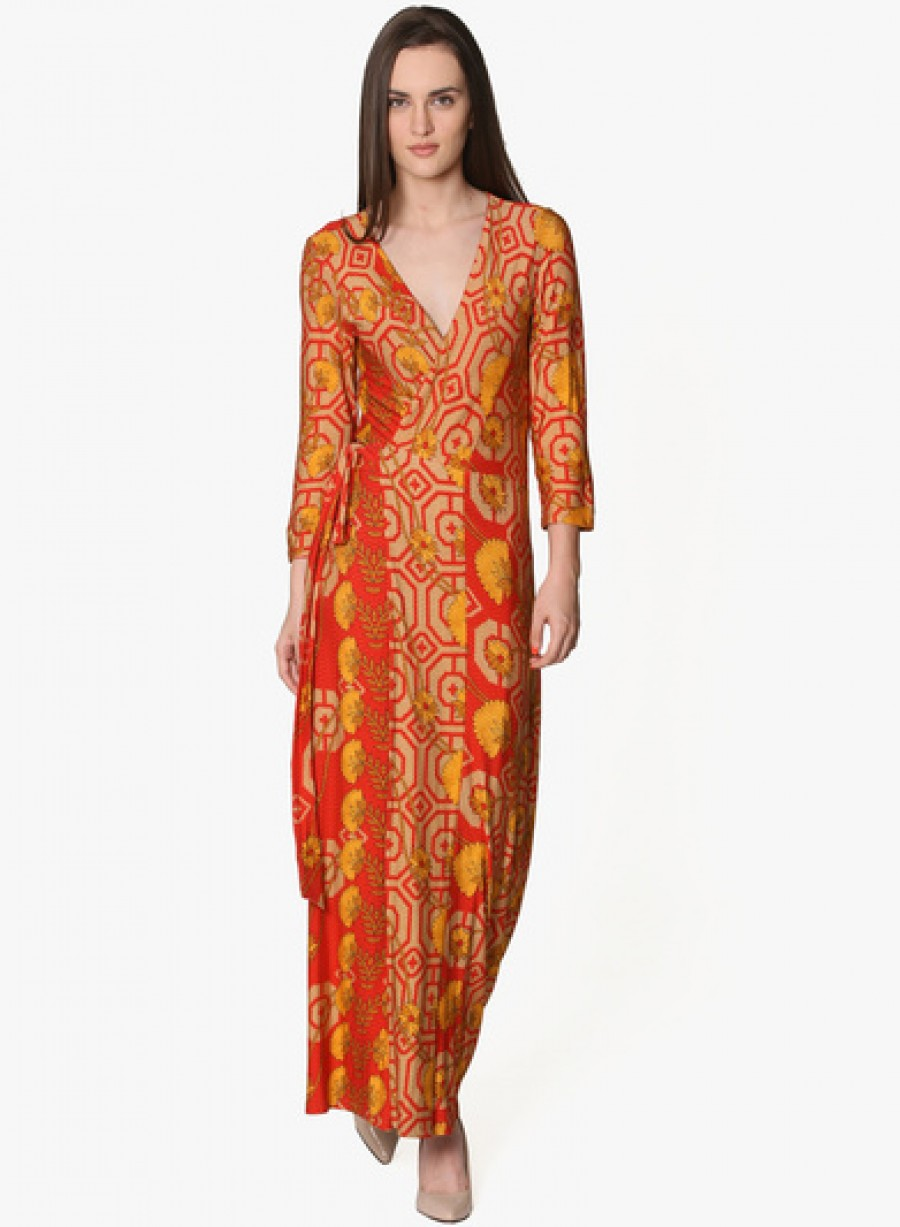 Purchase Online |Label Ritu Kumar Red Colored Printed Maxi ... - photo #33