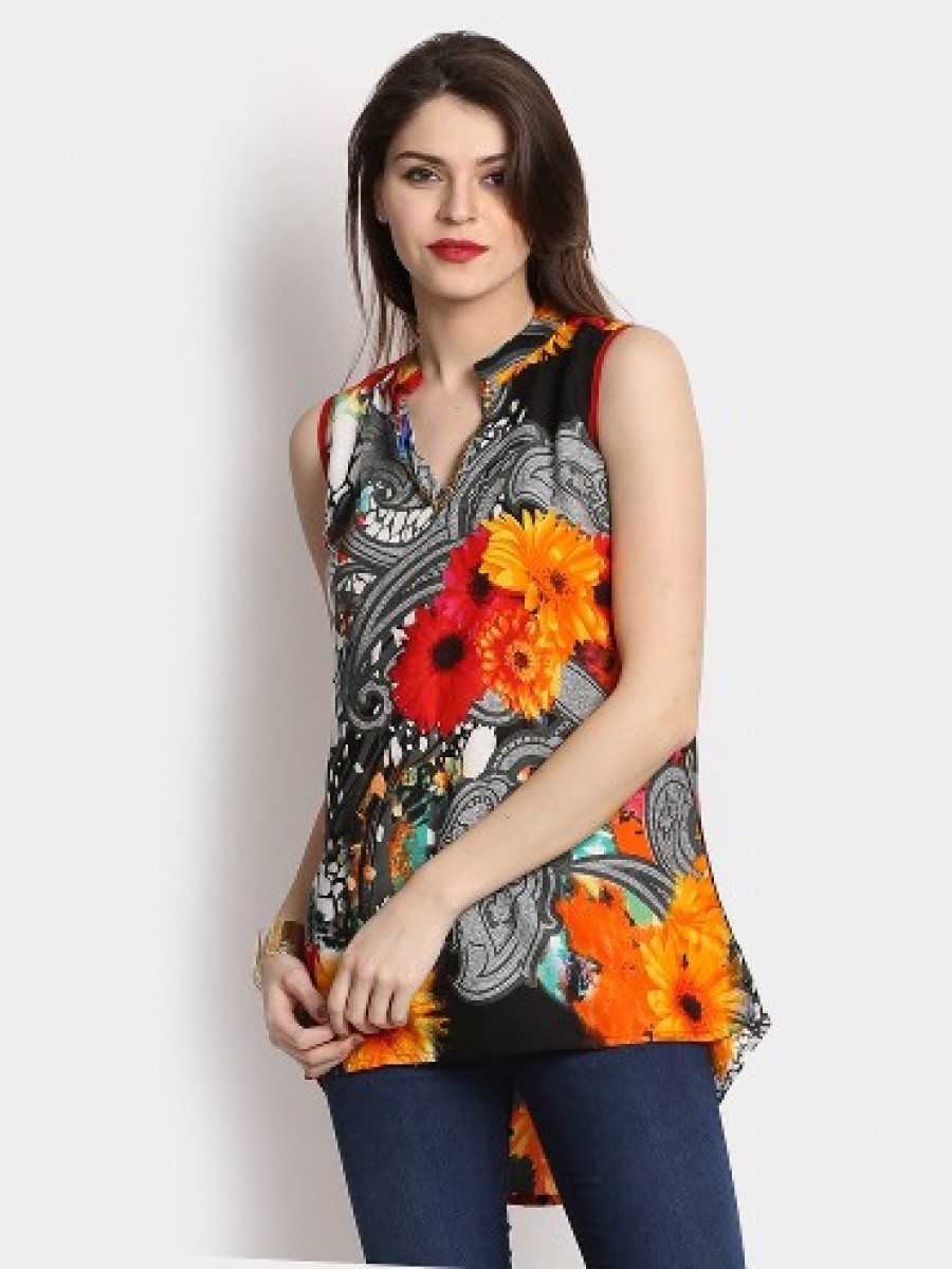 Buy Shree Women Multicolor Liva Printed Regular Fit Kurti Online