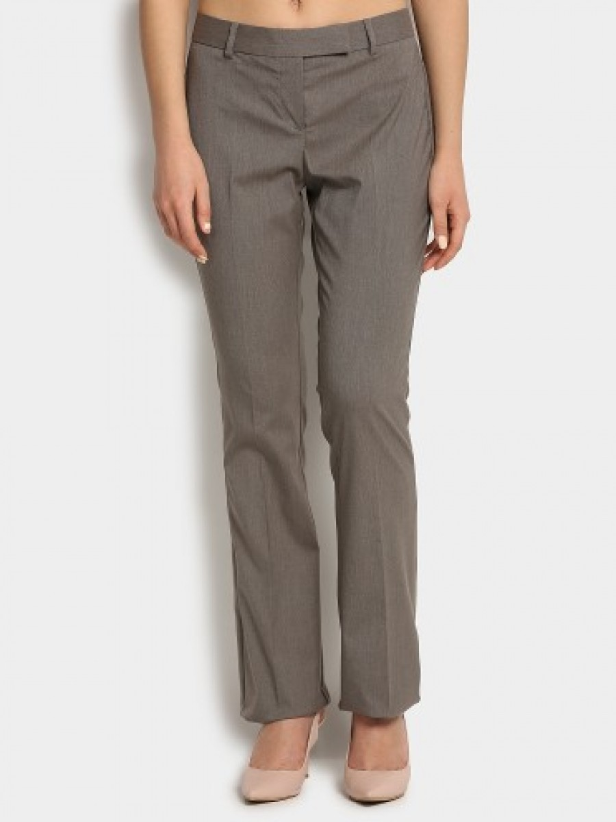 Buy Annabelle By Pantaloons Women Grey Formal Regular Fit Trousers Online