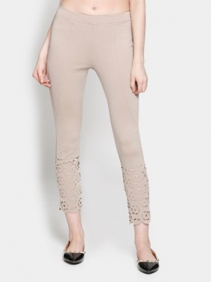 Buy Code by Lifestyle Women Beige Regular Fit Casual Trousers Online