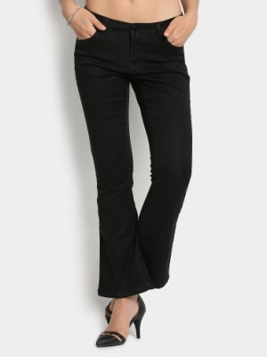 Buy Code by Lifestyle Women Black Regular Fit Trousers Online