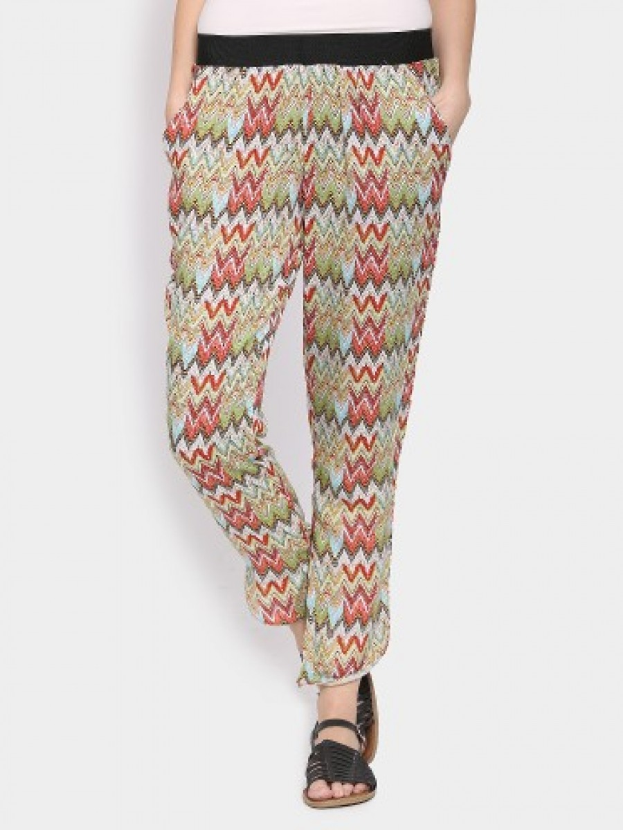 Buy Ginger by Lifestyle Women Multicolor Printed Regular Fit Pants Online