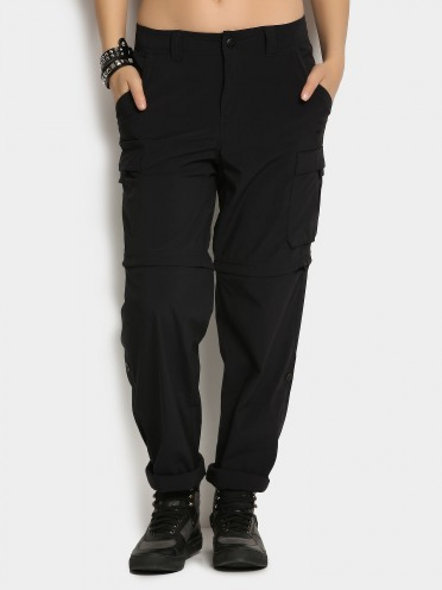 Buy Wildcraft Women Black Convertible Cargo Regular Fit Pants Online