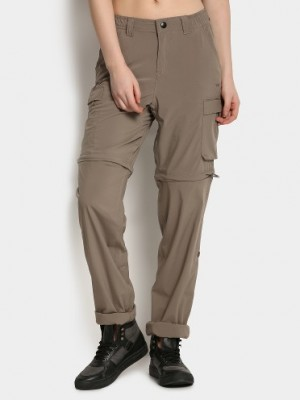 Buy Wildcraft Women Walnut Brown Convertible Cargo Regular Fit Pants Online