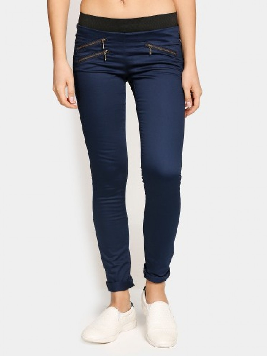 Buy Lee Women Cassi Dark Blue Regular Fit Jeggings Online