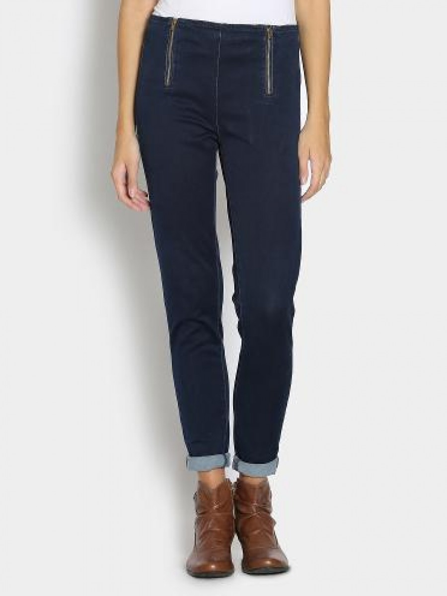 Buy United Colors Of Benetton Women Navy Regular Fit Jeggings Online