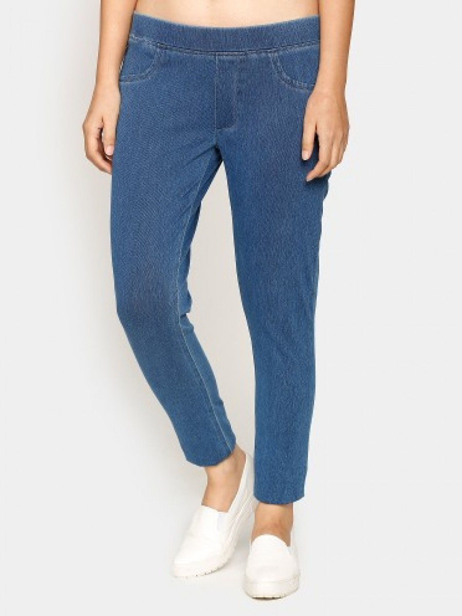 Buy United Colors of Benetton Women Blue Regular Fit Denim Trousers Online