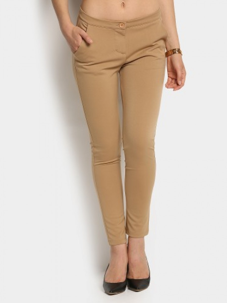 Buy United Colors of Benetton Women Beige Casual Trousers Online