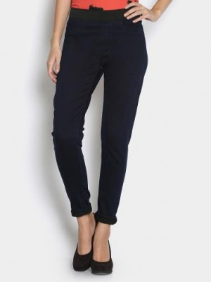 Buy United Colors of Benetton Women Navy Regular Fit Trousers Online