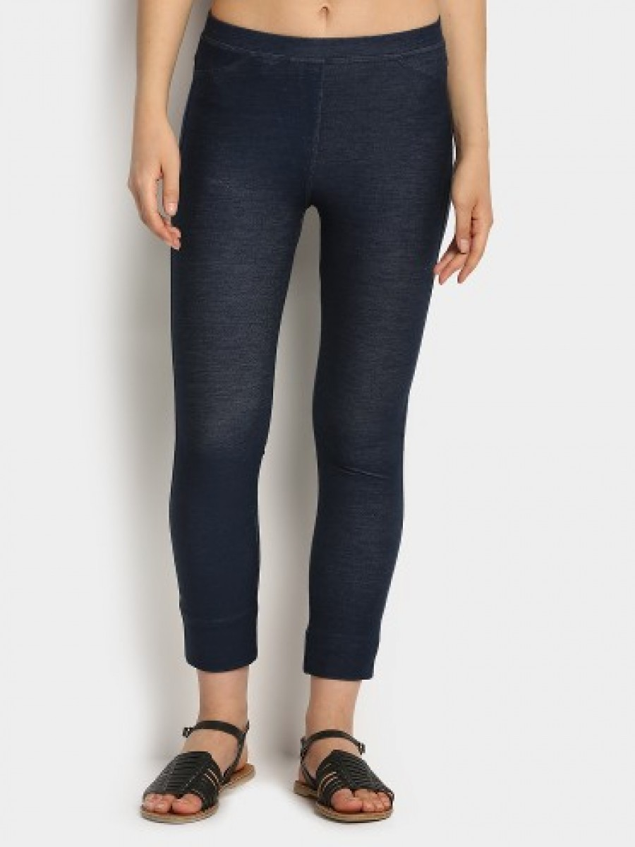 Buy United Colors of Benetton Women Dark Blue Jeggings Online