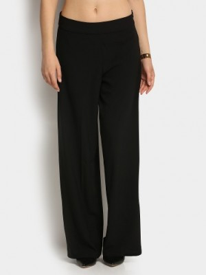Buy Only Women Black Relaxed Fit Palazzo Pants Online