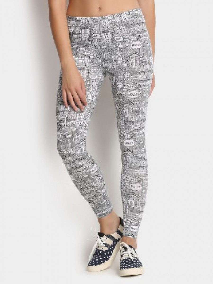Buy Candies by Pantaloons Women Black Printed Casuals Skinny Fit Trousers Online