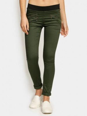 Buy Lee Women Cassi Olive Green Regular Fit Jeggings Online