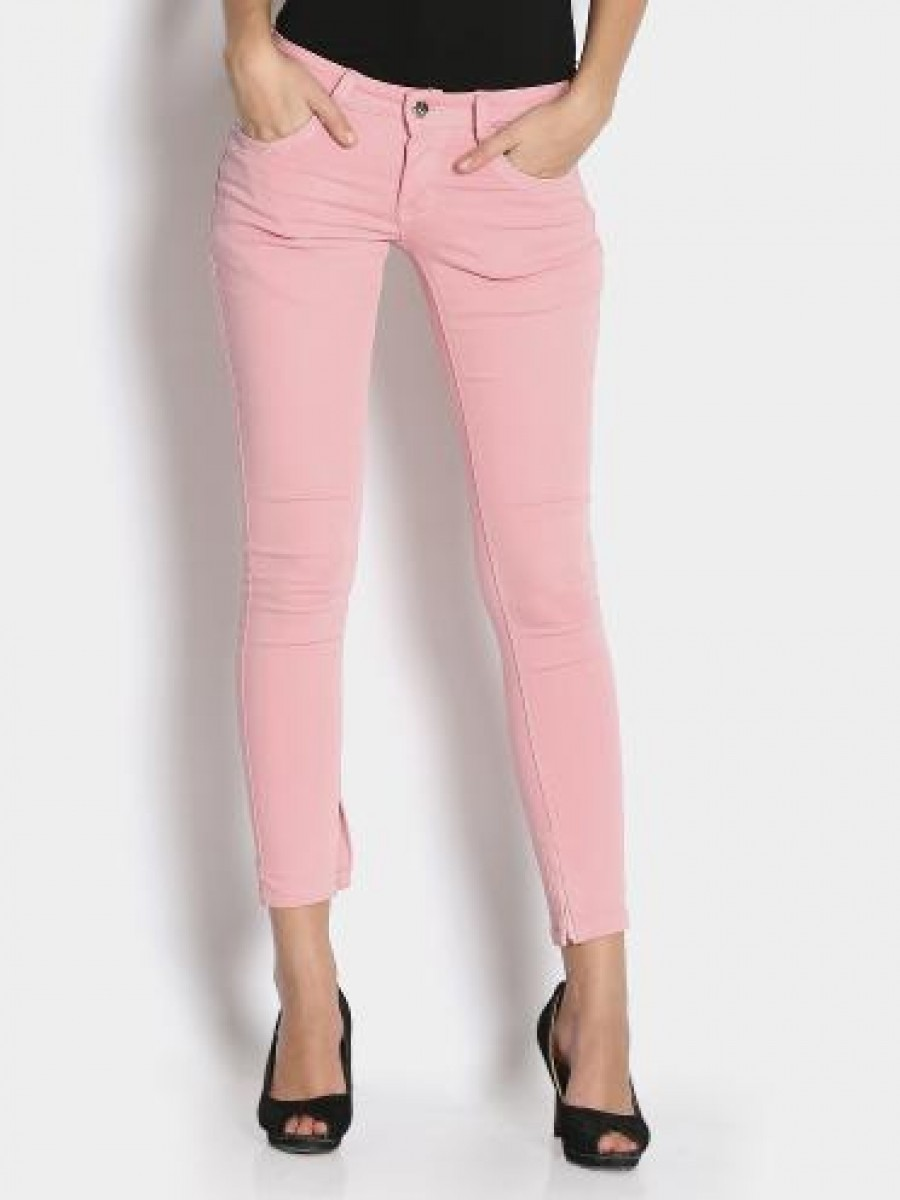 Buy Deal Jeans Women Light Pink Slim Fit Jeggings Online