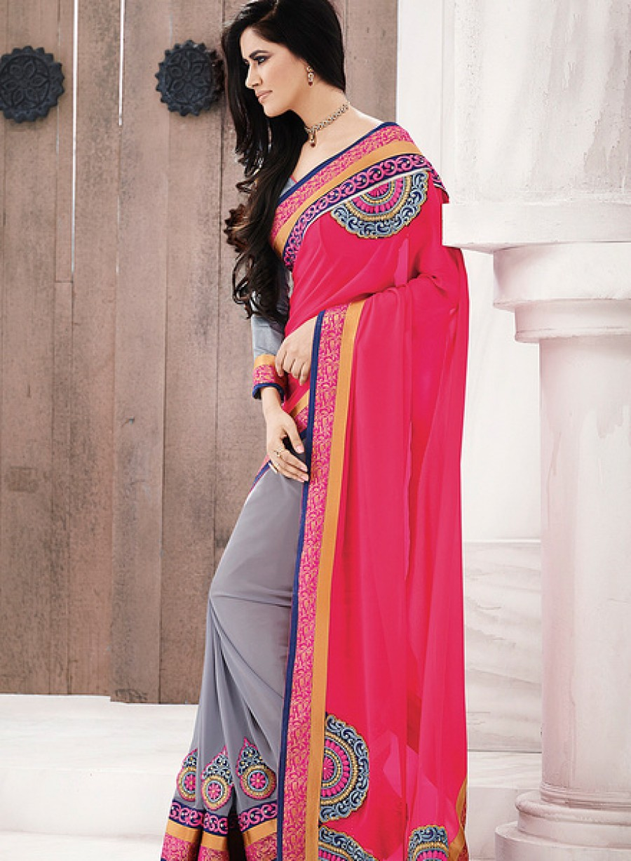 Buy Indian Women By BahubaliPink Sarees Online