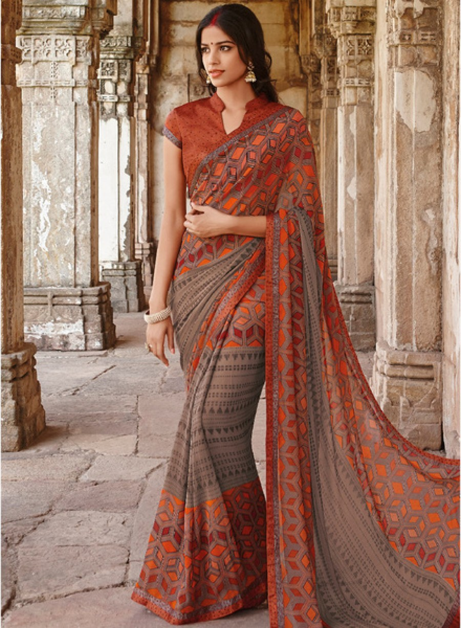 Buy Laxmipati Saree Multicoloured Printed Saree Online
