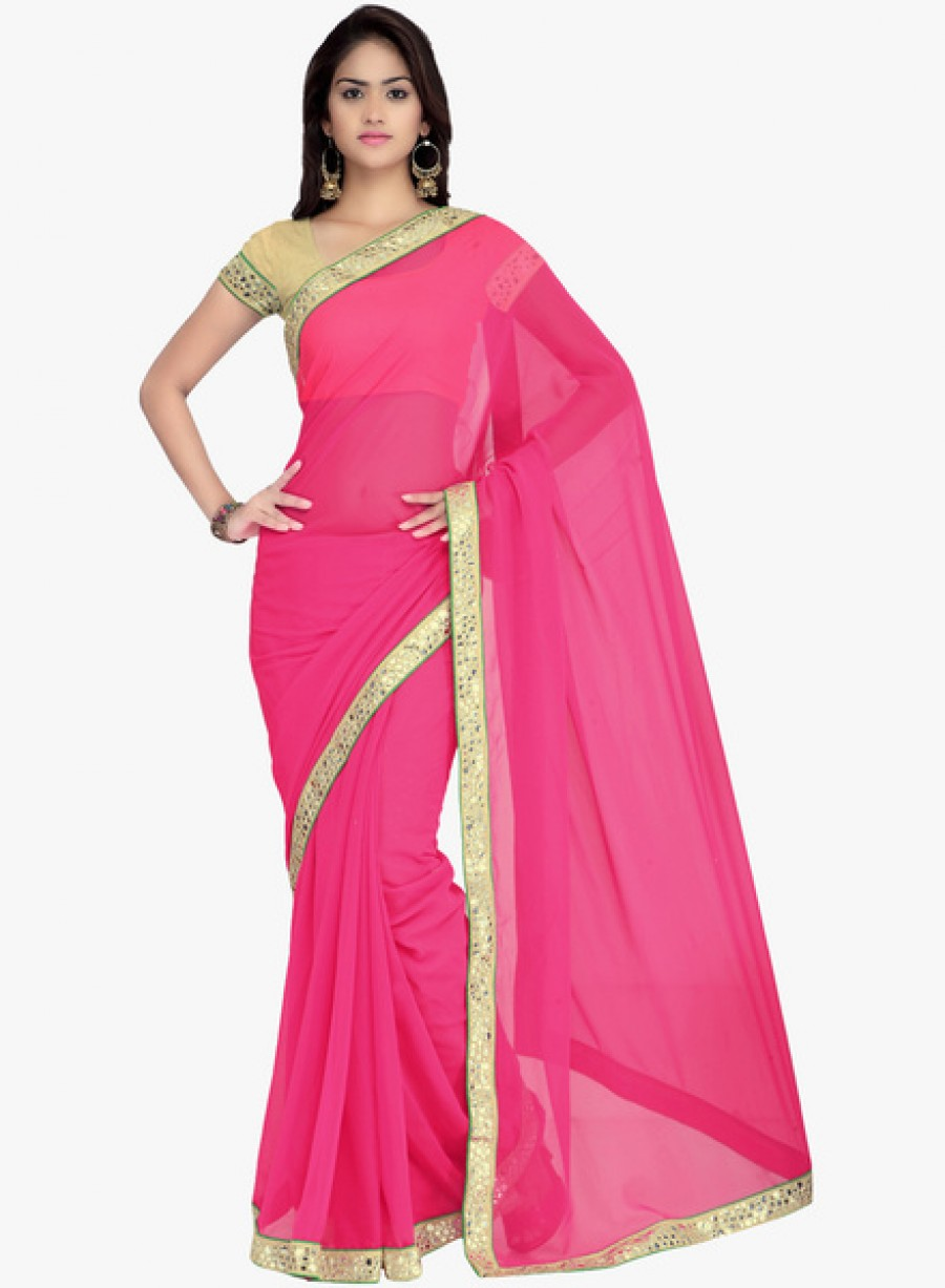 Buy Surat TexPink Embellished Saree Online