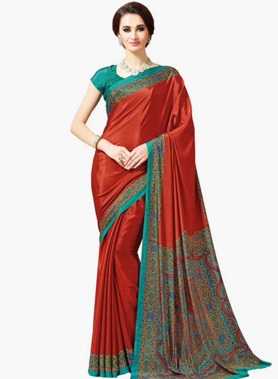 Buy Roop KashishRust Printed Saree Online
