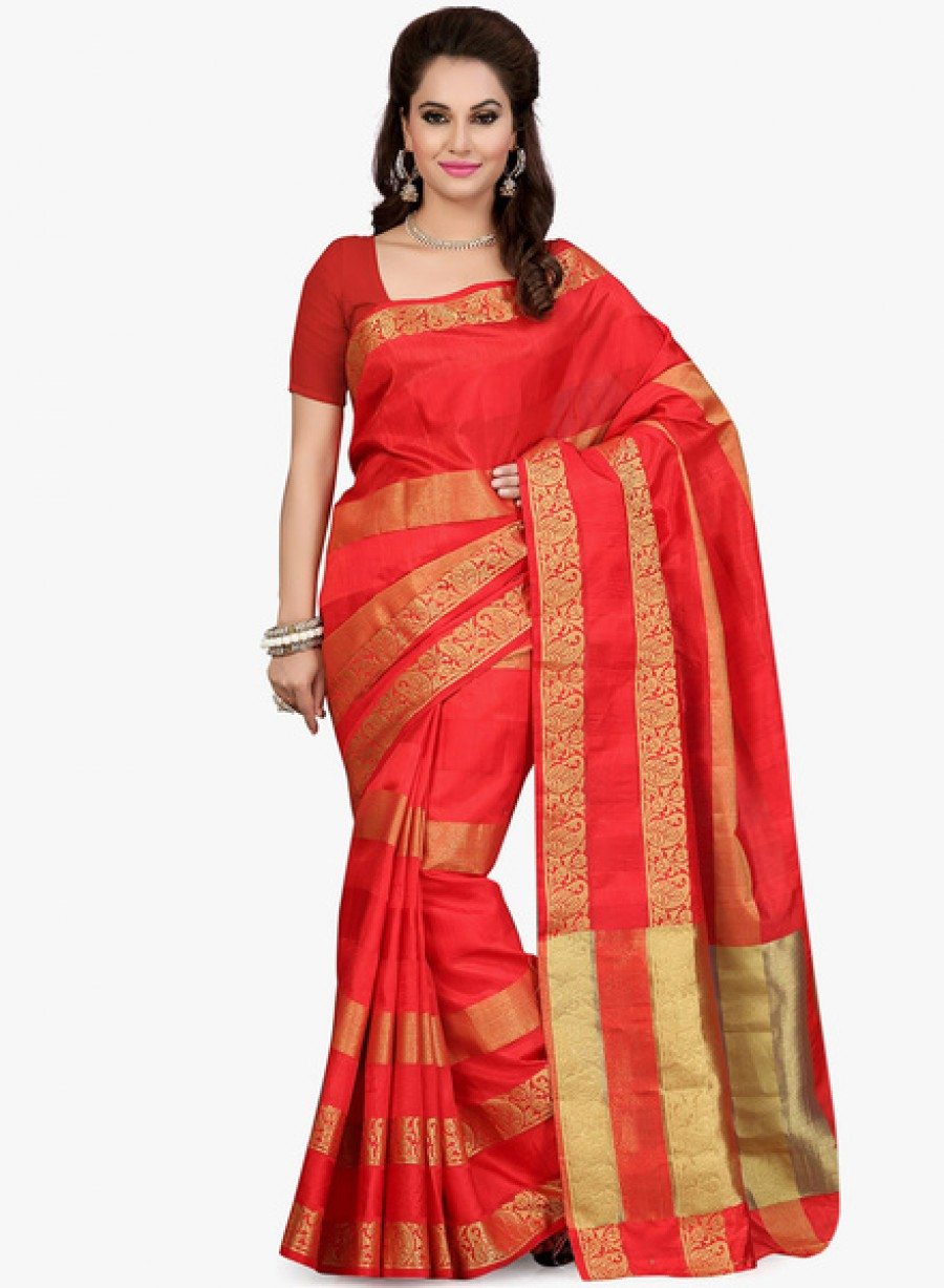 Buy IshinRed Embellished Saree Online