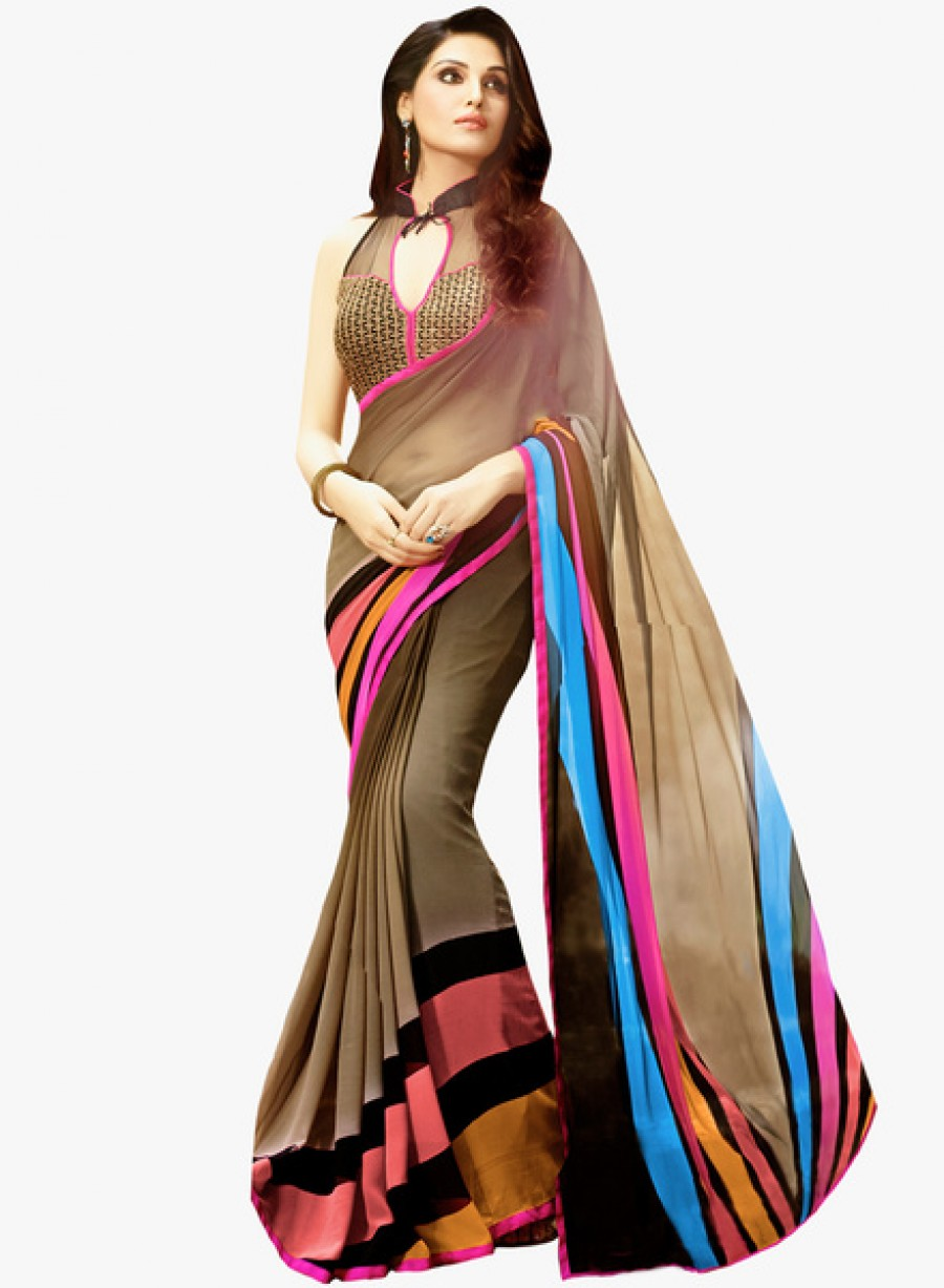 Buy Saree MallMulticoloured Printed Saree Online