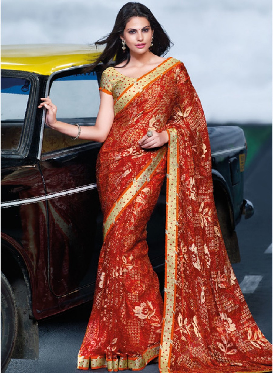 Buy Online Laxmipati Sareered Printed Sareeat Best Price