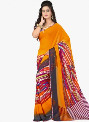 Buy LooksladyYellow Printed Saree Online